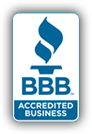 Award Badge for being a BBB Accredited Business
